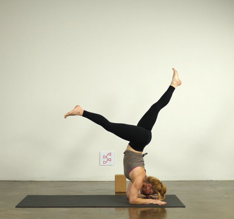 Forearm Stand with Split Legs