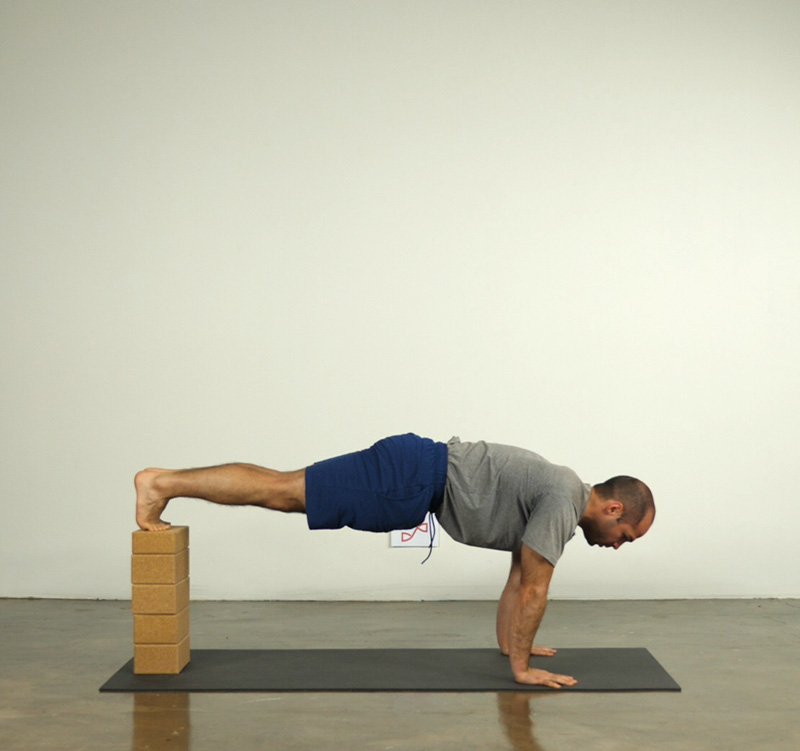 Plank Pose with Blocks