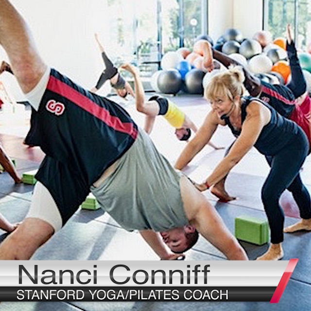 Nanci Conniff Teaching Yoga
